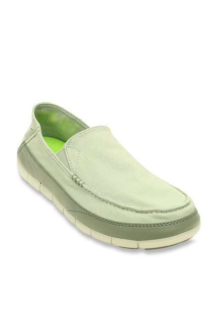 128f8f4c4c5f Buy Crocs Stretch Sole Desert Sage and Stucco Loafers Online at best price  at TataCLiQ