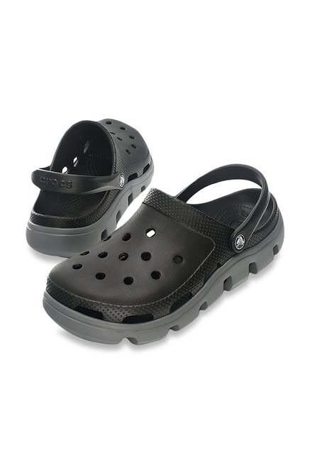 Crocs Duet Sport Black & Charcoal Clogs