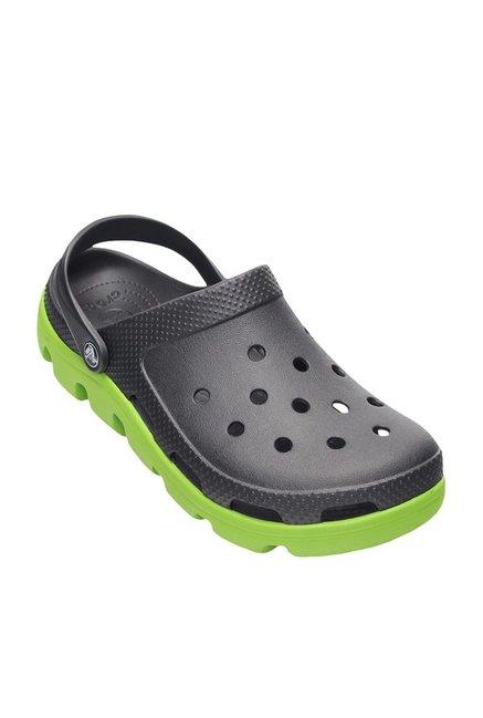 2243f8da9 Buy Crocs Duet Sport Graphite and Volt Green Clogs Online at best price at  TataCLiQ