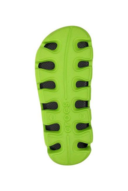 778bbfece Buy Crocs Duet Sport Graphite and Volt Green Clogs Online at best ...