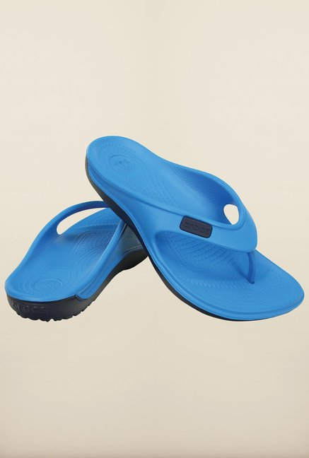 Crocs Duet Wave Ocean & Nautical Navy Flip Flops