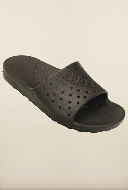 e5ee4bbf1f11 Buy Crocs Chawaii Espresso Flip Flops Online at best price at TataCLiQ