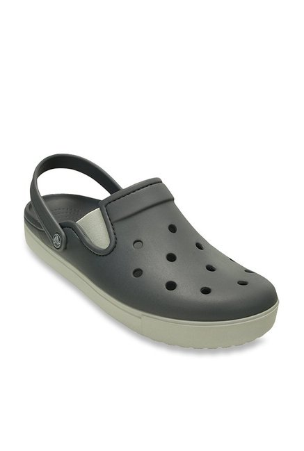 141ee66deb984 Buy Crocs CitiLane Charcoal Grey Clogs Online at best price at TataCLiQ