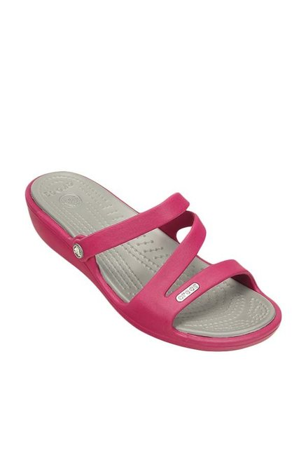 75cbc22a1 Buy Crocs Patricia Berry   Silver Wedges Online at best price at ...