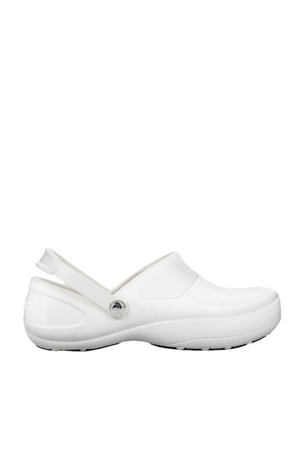 oficjalny sklep w sprzedaży hurtowej kup sprzedaż Buy Crocs Mercy Work White Clogs Online at best price at ...