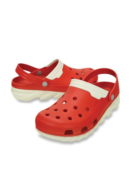 Crocs Duet Max Flame Red & White Clogs