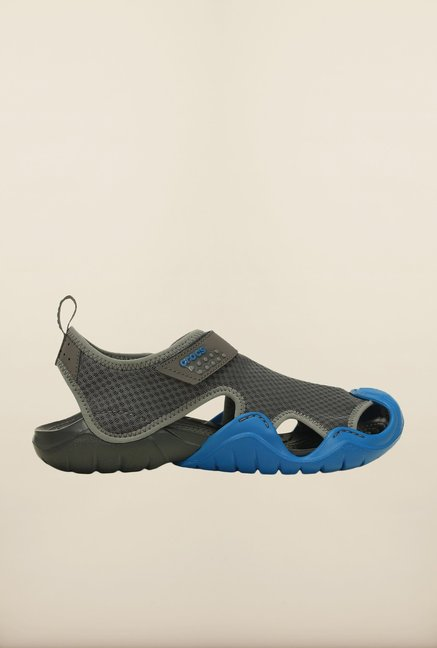 Crocs Swiftwater Graphite & Marine Floater Sandals