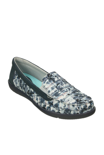 9237221f065 Buy Crocs Walu II Striped Floral White   Navy Loafers Online at best ...