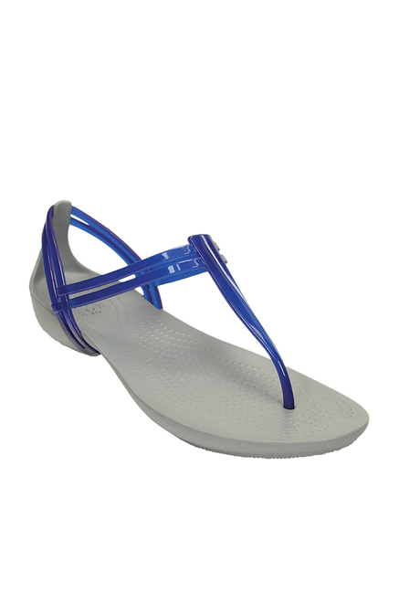 6305f7412 Buy Crocs Isabella Cerulean Blue T-Strap Sandals Online at best price at  TataCLiQ