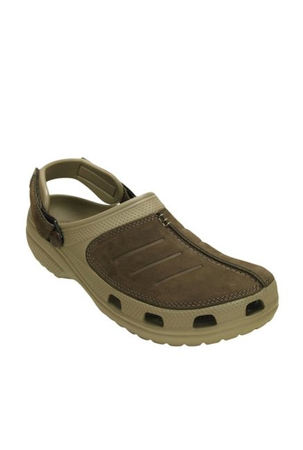 fc16ce075 Buy Crocs Yukon Mesa Khaki   Espresso Clogs Online at best price at ...