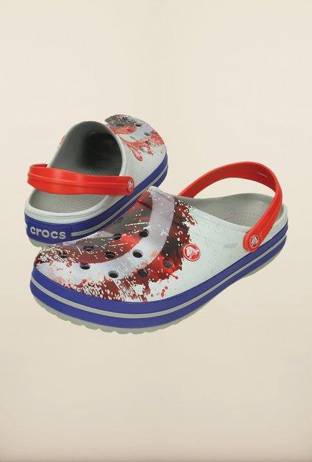 49fff179114d Buy Crocs Crocband Avengers White   Grey Clogs Online at best price ...
