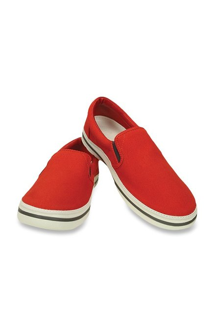 Crocs Norlin Red & White Sneakers