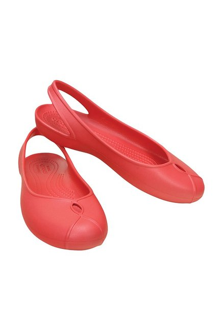 a06810cab Buy Crocs Olivia II Coral Red Sling Back Shoes Online at best price ...