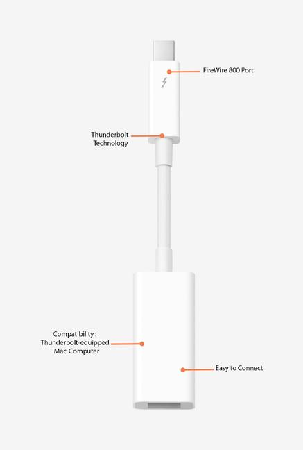 Buy Apple MD464ZMA Thunderbolt to FireWire Adapter (White) Online at ...