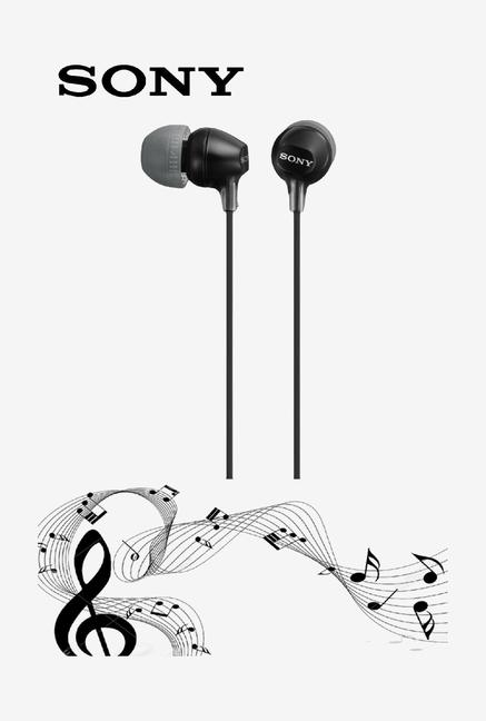 Sony MDR-EX15LP Wired In-Ear Headphone (Black)