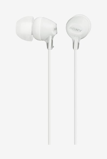Sony MDR-EX15AP in-Ear Stereo Headphones with Mic, White