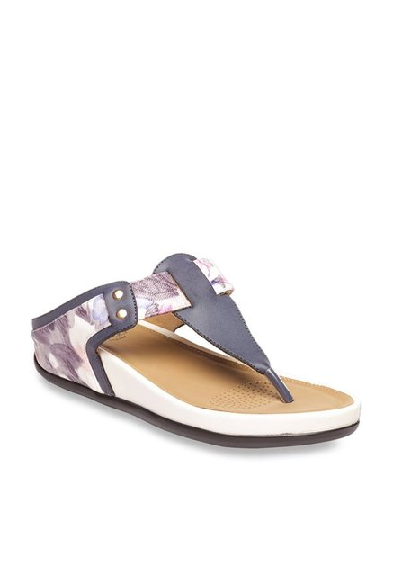 78e0b64c1fd Buy Pavers England Navy   Purple Thong Sandals Online at best price at  TataCLiQ