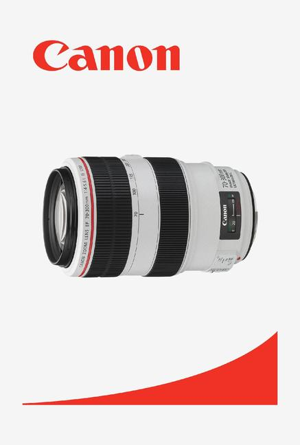 Canon EF70-300mm f/4-5.6 L IS USM Lens (White and Black)