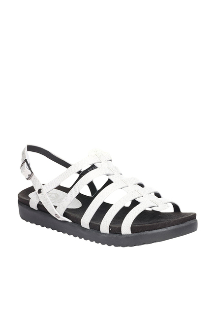 b15367ecdcca Buy Pavers England White Back Strap Sandals Online at best price at TataCLiQ