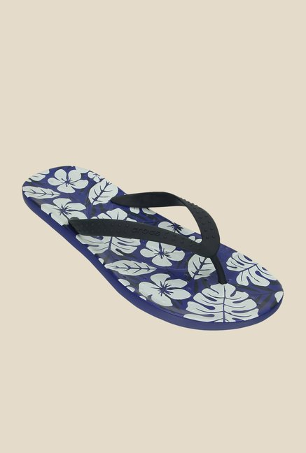 d6f800f25dbd Buy Crocs Chawaii Tropical Print Cerulean Blue Flip Flops Online at ...