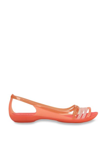 64364674b3c1 Buy Crocs Isabella Huarache Coral   Peach Slide Sandals Online at ...