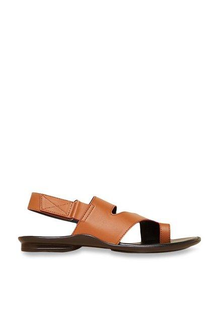 081d89e168282e Buy Privo by Inc.5 Tan   Black Back Strap Sandals Online at best price at  TataCLiQ