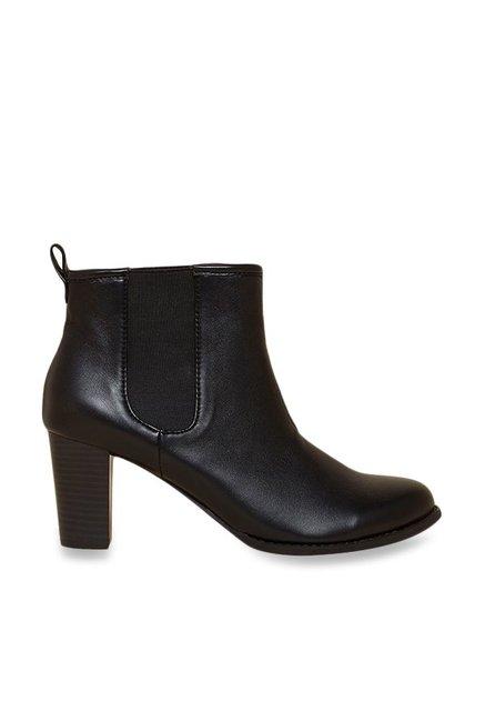 85d2b6ca04ce4 Buy Inc.5 Black Chelsea Boots Online at best price at TataCLiQ