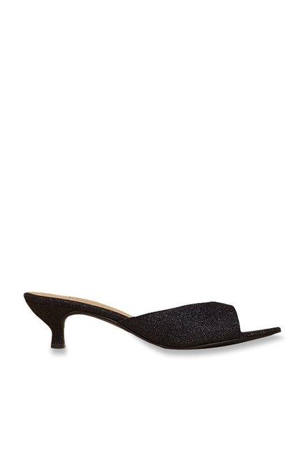 0d91e463c7d Buy Inc.5 Black Kitten Heeled Sandals Online at best price at TataCLiQ