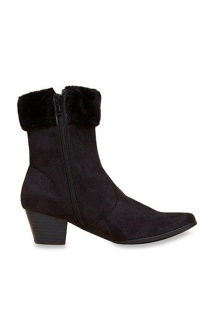 7d2b31714821e Buy Inc.5 Black Casual Boots Online at best price at TataCLiQ