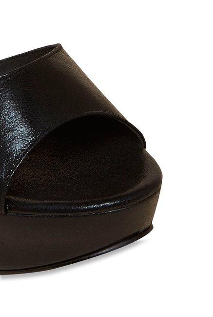 b0da65d8d58 Buy Inc.5 Black Peeptoe Stilettos Online at best price at TataCLiQ