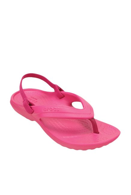 42236f502 Buy Crocs Kids Classic Candy Pink Back Strap Flip Flops for Girls at Best  Price   Tata CLiQ