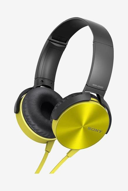 Sony MDR-XB450 Over the Ear Headphones (Yellow)
