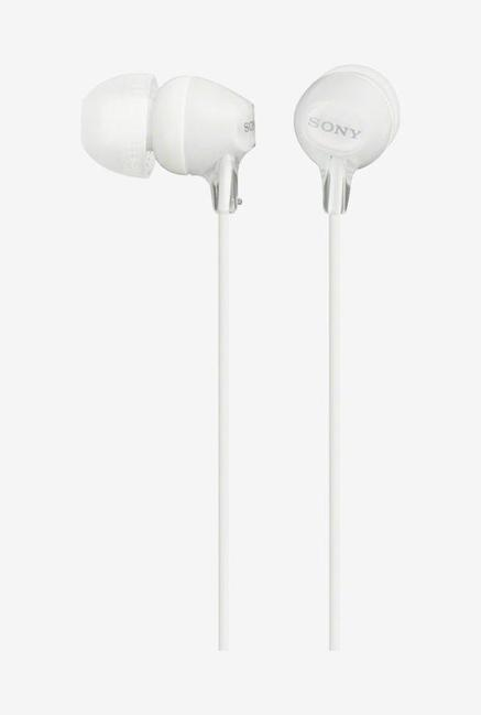 Sony MDR-EX15LP In the Ear Headphones (White)