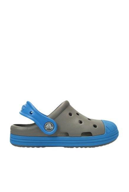 f47b7ee6e Buy Crocs Kids Bump It Smoke Grey   Ocean Clogs for Boys at Best ...