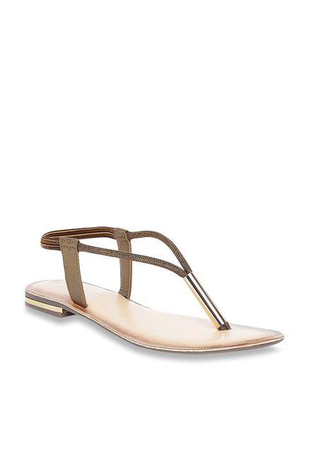 0fc5988cf2 Buy Catwalk Bronze Sling Back Sandals For Women Online At Tata CLiQ