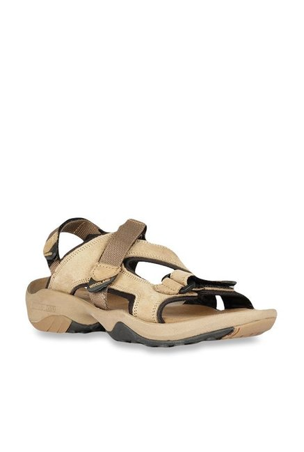 e533a25248e Buy Woodland Khaki Floater Sandals For Men Online At Tata CLiQ
