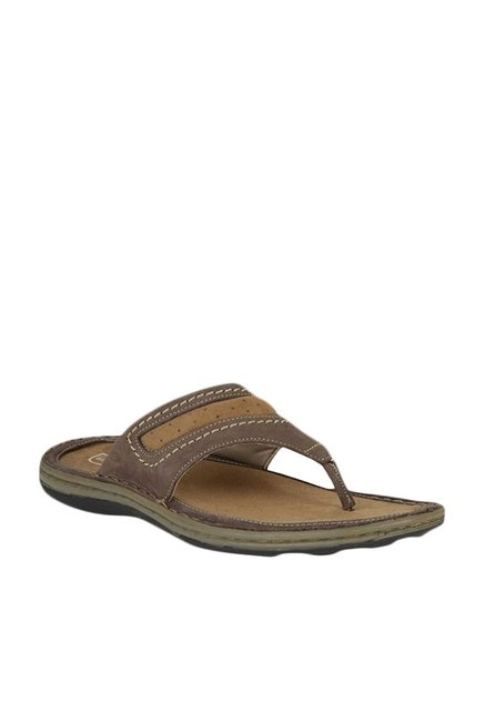 e3f1e80f887b Buy Woodland Brown T-Strap Sandals For Men Online At Tata CLiQ