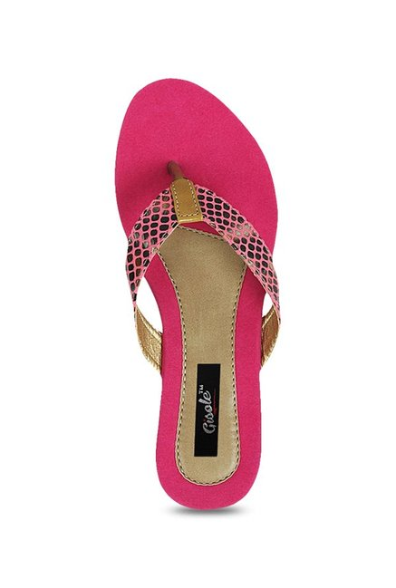 1c37d4fdf9e0 Buy Gisole Mariah Pink Thong Sandals For Women Online At Tata CLiQ