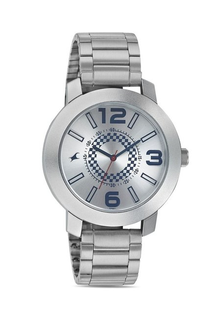 Fastrack 3120SM03 Bare Basics-Checkmate Analog Watch for Men