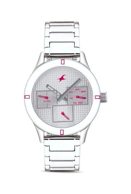 Fastrack 6078SM08 Monochrome Analog Watch for Women