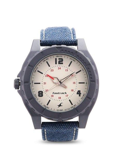 Fastrack NG9462AL03 OTS Explorer Analog White Dial Men's Watch