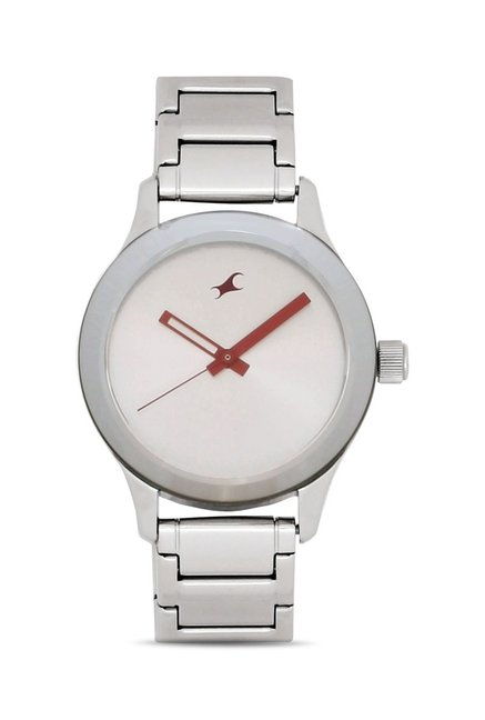 Fastrack NG6078SM02C Monochrome Analog Watch for Women
