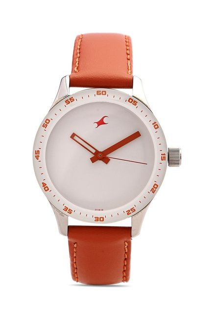 Fastrack NG6078SL04C Monochrome Analog Watch for Women