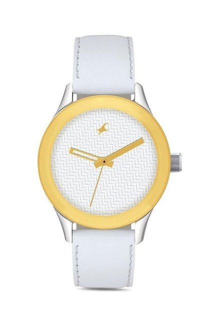 Fastrack NG6078SL02C Monochrome Analog Watch for Women