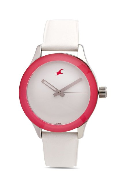 Fastrack NG6078SL01C Monochrome Analog Watch for Women