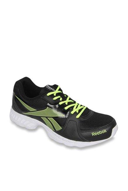 5559c46ea0 Reebok Top Speed Black & Green Running Shoes