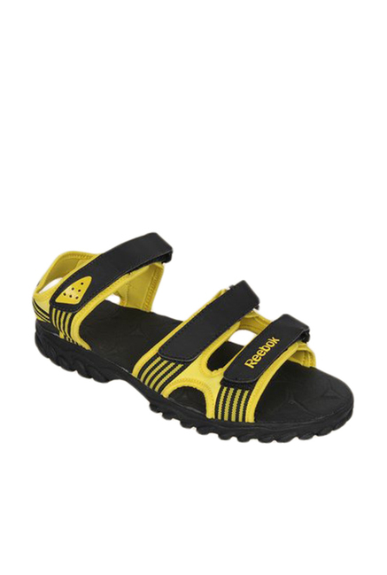70b1766d59dc9 Buy Reebok Supreme Connect Yellow   Black Floater Sandals for Men at Best  Price   Tata CLiQ