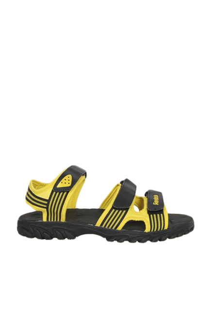 a8ae793a83fb4 Buy Reebok Supreme Connect Yellow   Black Floater Sandals for Men at ...