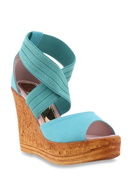 f6f7b1ec9329 Buy Catwalk Teal Blue Ankle Strap Wedges for Women at Best Price ...