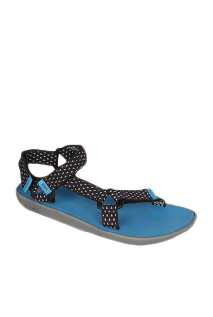 Buy Puma Plato DP Black   Blue Floater Sandals for Men at Best Price   Tata  CLiQ c355cc3b7ce0